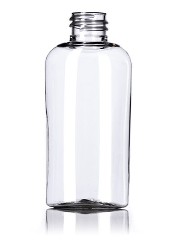 2 oz clear PET plastic cosmo oval bottle with 20-410 neck finish