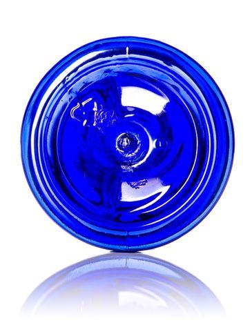 2 oz cobalt blue PET plastic cosmo round bottle with 20-410 neck finish