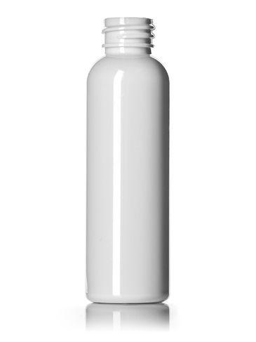 2 oz white PET plastic cosmo round bottle with 20-410 neck finish
