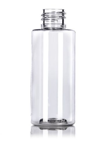 2 oz clear PET plastic cylinder round bottle with 20-410 neck finish