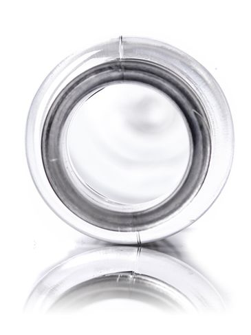 1 oz clear PET plastic heavy gram weight slim cylinder round bottle with 20-410 neck finish