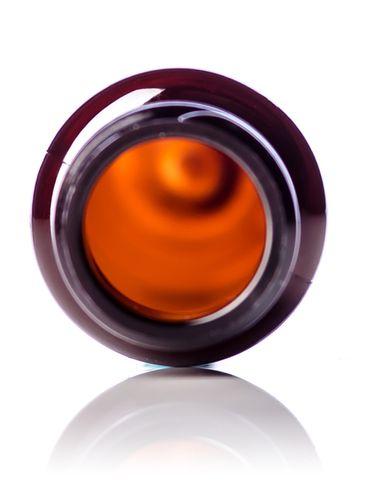 1 oz amber PET plastic slim cylinder round bottle with 20-410 neck finish