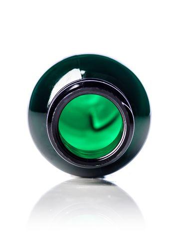 1 oz green PET plastic boston round bottle with 20-410 neck finish