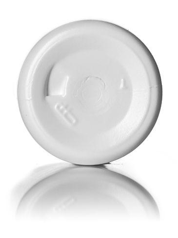1 oz white HDPE plastic cylinder round bottle with 20-410 neck finish