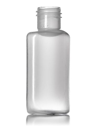 1/2 oz natural-colored LDPE plastic oval bottle with 15-415 neck finish