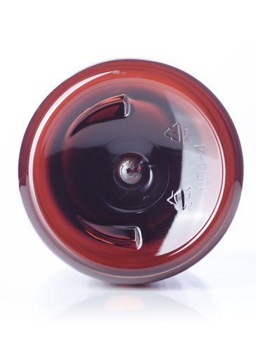 32 oz amber PET plastic boston round bottle with 28-410 neck finish