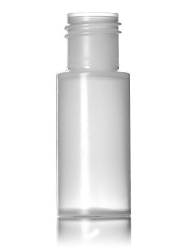 1/4 oz natural-colored LDPE plastic cylinder round bottle with 15-415 neck finish