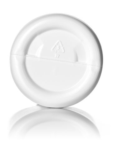 3 oz white HDPE plastic imperial round bottle with 24-410 neck finish