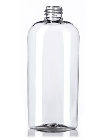 4 oz clear PET plastic cosmo oval bottle with 20-410 neck finish