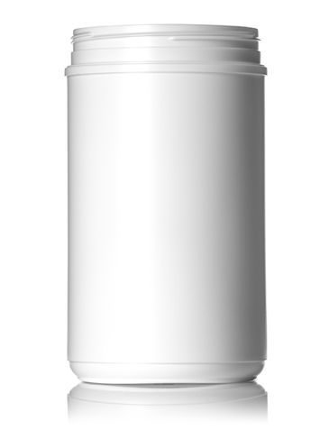 85 oz white HDPE plastic single wall canister with 120mm neck finish