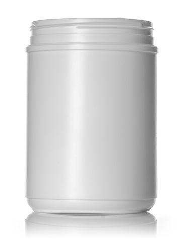 70 oz white HDPE plastic single wall canister with 120mm neck finish