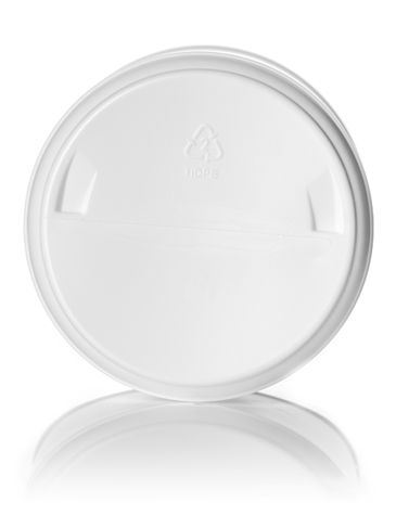 55 oz white HDPE plastic wide-mouth container with 120 mm triple thread neck finish