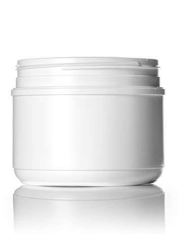 36 oz white HDPE plastic wide-mouth container with 120TT neck finish