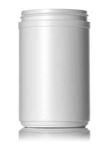 30 oz white HDPE plastic single wall canister with 89-400 neck finish