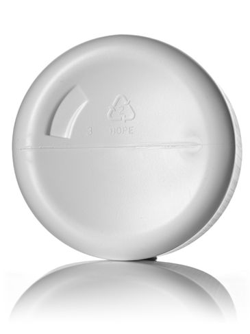 32 oz white HDPE plastic wide-mouth packer with 100-400 neck finish