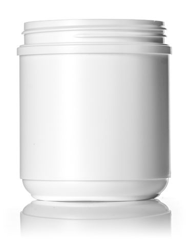 19 oz white HDPE plastic wide-mouth container with 89-400 neck finish