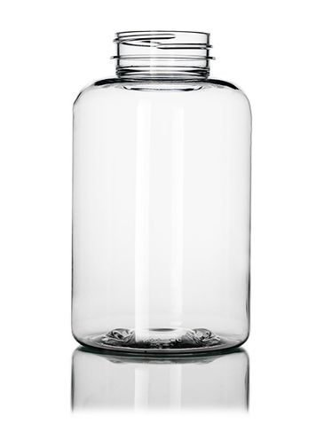 500 cc clear PET plastic pill packer bottle with 45-400 neck finish