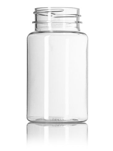 100 cc clear PET plastic pill packer bottle with 38-400 neck finish