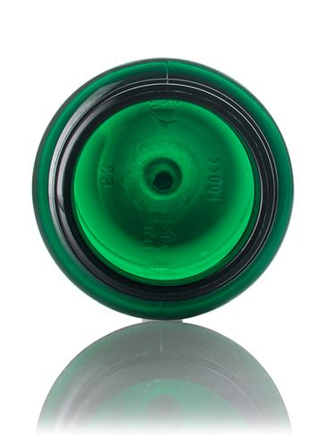100 cc green PET plastic pill packer bottle with 38-400 neck finish