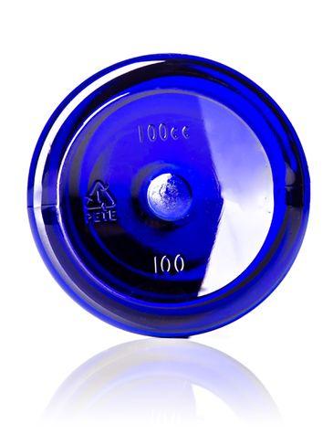 100 cc cobalt blue PET plastic pill packer bottle with 38-400 neck finish