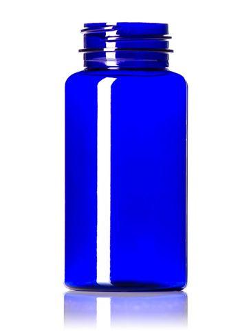 150 cc cobalt blue PET plastic pill packer bottle with 38-400 neck finish
