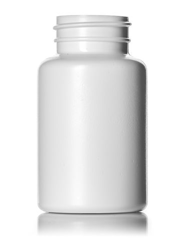 150 cc white HDPE plastic pill packer bottle with 38-400 neck finish