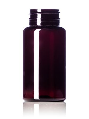 150 cc dark amber PET plastic pill packer bottle with 38-400 neck finish
