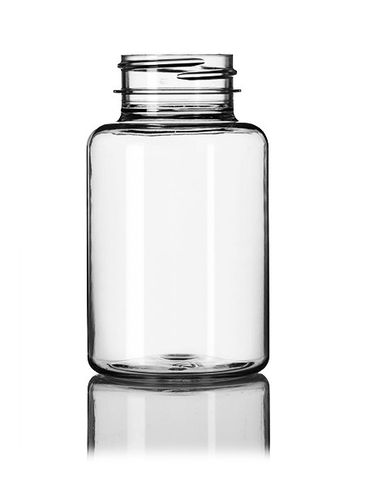 175 cc clear PET plastic pill packer bottle with 38-400 neck finish
