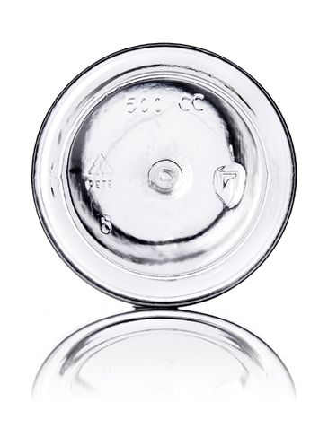 500 cc clear PET plastic pill packer bottle with 53-400 neck finish