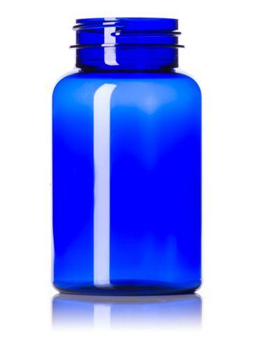 225 cc cobalt blue PET plastic pill packer bottle with 45-400 neck finish