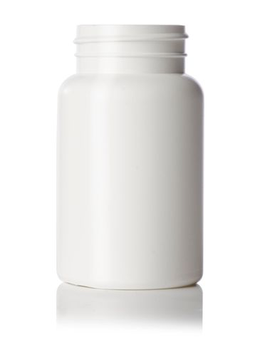 175 cc white HDPE plastic pill packer bottle with 45-400 neck finish