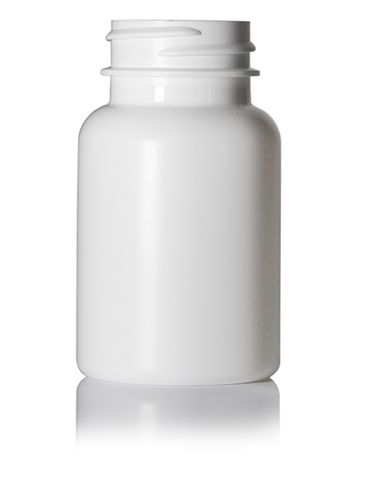75 cc white HDPE plastic pill packer bottle with 33-400 neck finish