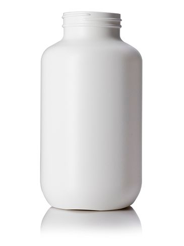 750 cc white HDPE plastic pill packer bottle with 53-400 neck finish