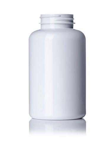 400 cc white PET plastic pill packer bottle with 45-400 neck finish