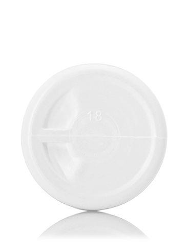 2 oz white HDPE plastic cylinder round bottle with 24-410 neck finish