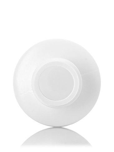 2 oz white HDPE plastic cylinder round bottle with 20-410 neck finish