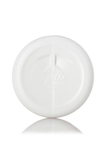 4 oz white HDPE plastic cylinder round bottle with 20-410 neck finish