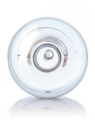 16 oz clear PET plastic boston round bottle with 24-410 neck finish