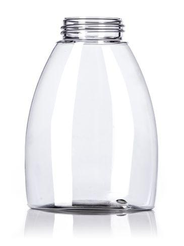 250 mL clear PET plastic tabletop oval foamer bottle with 40mm neck finish