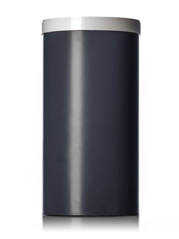 4 x 8 inches dark gray PP plastic test cylinder with white lid (lid included)