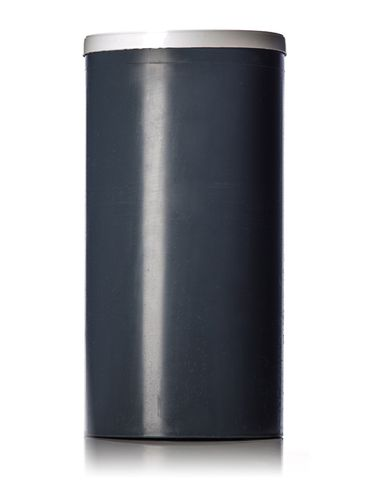 6 x 12 inches dark gray PP plastic test cylinder with white lid (lid included)