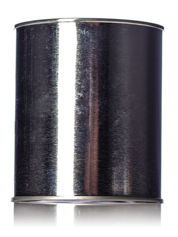 1 quart silver uncoated steel round paint can with lid