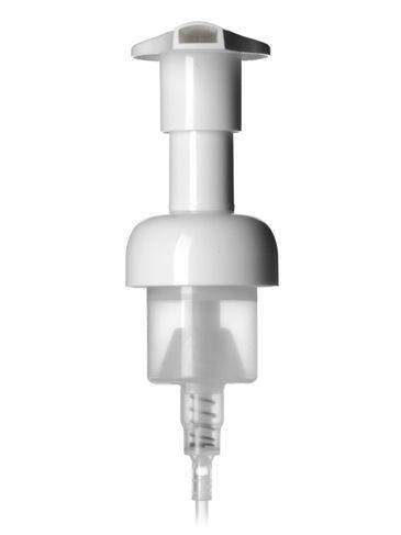 White PP plastic 40 mm smooth skirt foamer dispensing pump with 4.5 inch dip tube
