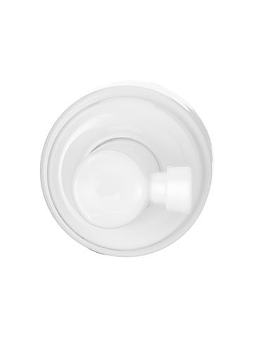 White PP plastic 43 mm smooth skirt foamer dispensing pump with 7.375 inch dip tube (.7 cc output)
