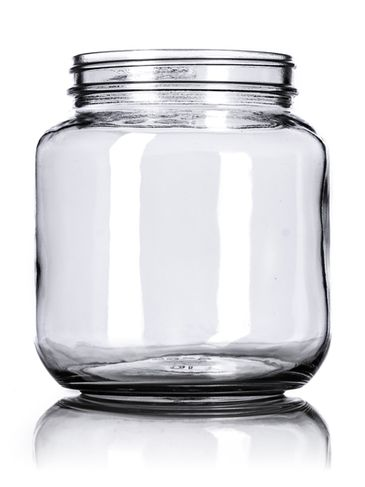 64 oz clear glass wide-mouth container with 110-400 neck finish