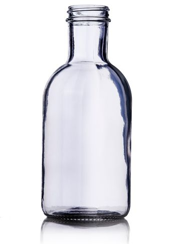 16 oz clear glass stout sauce bottle with 38-400 neck finish