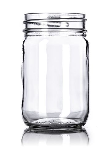 12 oz clear glass jar with 70-450G neck finish