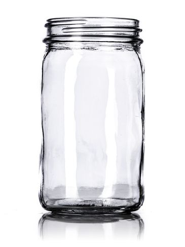 8 oz clear glass paragon jar with 58-400 neck finish
