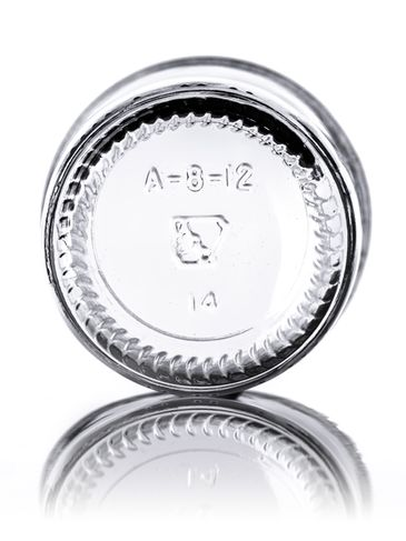 8 oz clear glass tapered round jar with 70-450G neck finish