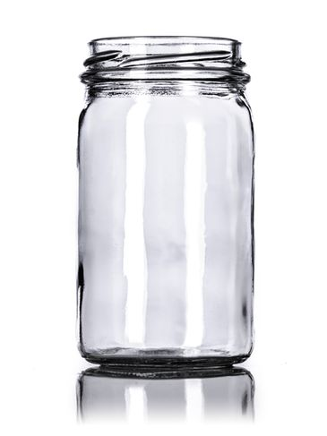 8 oz clear glass paragon jar with 58TW neck finish